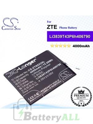 CS-ZTN523XL For ZTE Phone Battery Model Li3839T43P6h406790