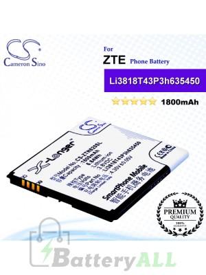 CS-ZTN820SL For ZTE Phone Battery Model Li3818T43P3h635450