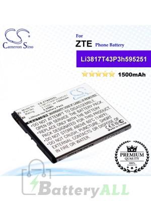 CS-ZTN950SL For ZTE Phone Battery Model Li3716T43P3h595251 / Li3817T43P3h595251