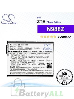 CS-ZTN988SL For ZTE Phone Battery Model N988Z