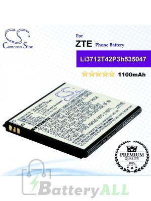 CS-ZTQ101SL For ZTE Phone Battery Model Li3712T42P3h535047