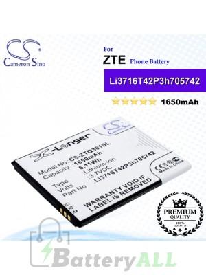 CS-ZTQ301SL For ZTE Phone Battery Model Li3716T42P3h705742