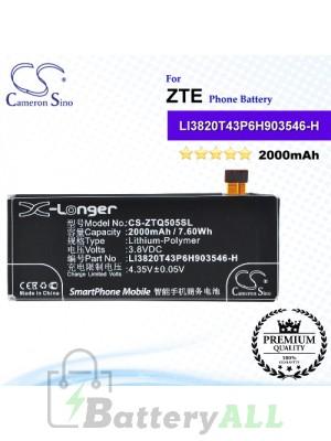 CS-ZTQ505SL For ZTE Phone Battery Model LI3720T43P6H903546 / LI3720T43P6H903546-H / LI3820T43P6H903546-H