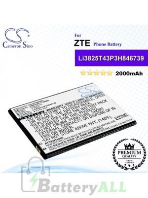 CS-ZTQ805SL For ZTE Phone Battery Model Li3825T43P3h846739