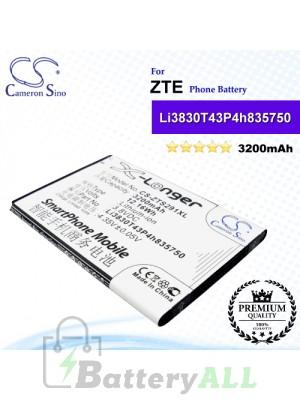 CS-ZTS291XL For ZTE Phone Battery Model Li3830T43P4h835750