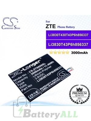 CS-ZTS600SL For ZTE Phone Battery Model Li3830T43P6h856337 / Li3830T430T43P6h856337