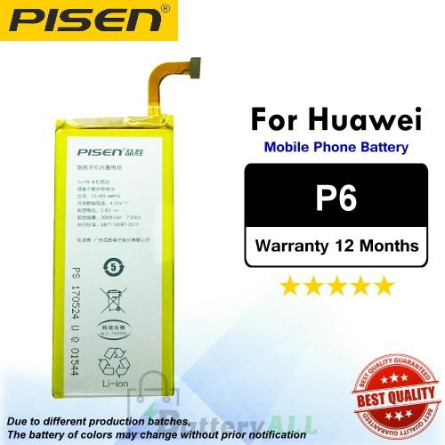 Original Pisen Battery For Huawei P6 Battery