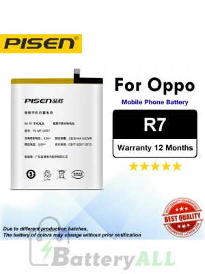 Original Pisen Battery For Oppo R7 Battery