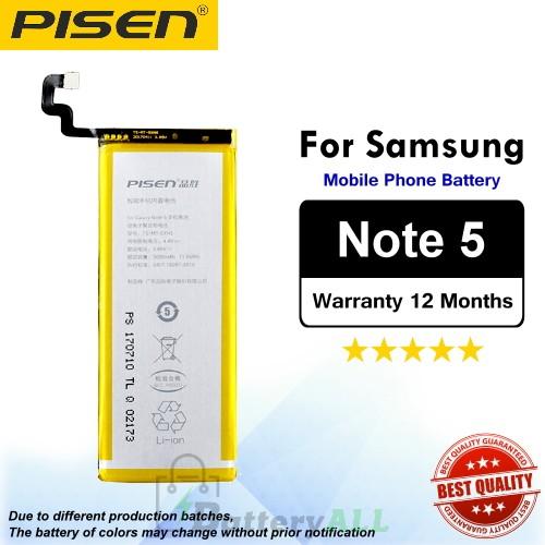Original Pisen Battery For Samsung Galaxy Note 5 Battery