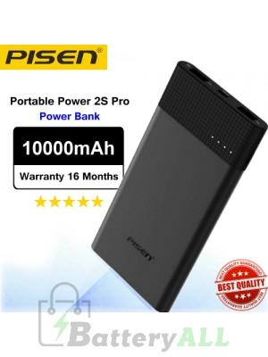 Original Pisen Power bank Portable Power 2S Pro PowerBank 2.4A 10000mAh Black