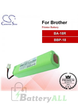 CS-PBA180SL For Brother Printer Battery Model BA-18R / BBP-18