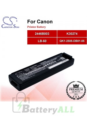 CS-CNP320SL For Canon Printer Battery Model 2446B003 / K30274 / LB-60 / QK1-2505-DB01-05