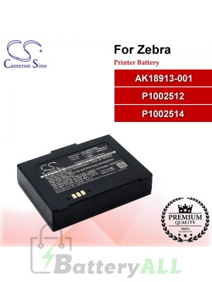CS-ZEM220BL For Zebra Printer Battery Model AK18913-001 / P1002512 / P1002514