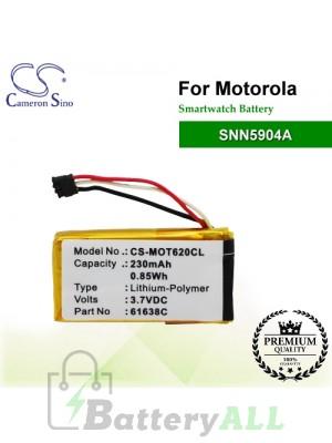 CS-MOT620CL For Motorola Smartwatch Battery Model SNN5904A