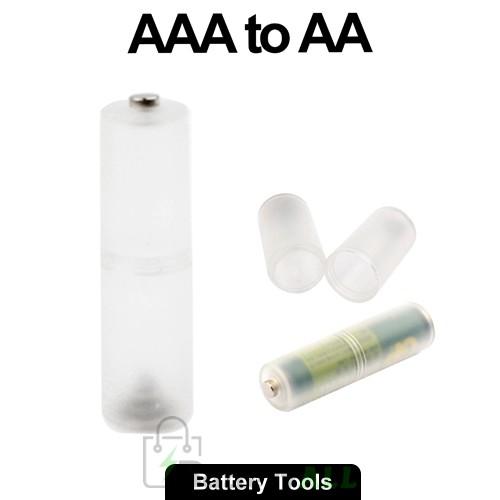 AAA to AA Size Battery Converter Adaptor Adapter Case S-LIB-0124