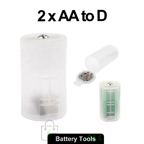 2 x AA to D Size Battery Converter Adaptor Adapter Case (3V) S-LIB-0126