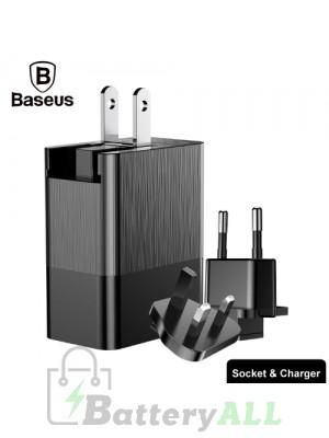 Baseus Duke DC5V 3.4A (Max) 3 Ports Universal Travel Charger IPXG0320