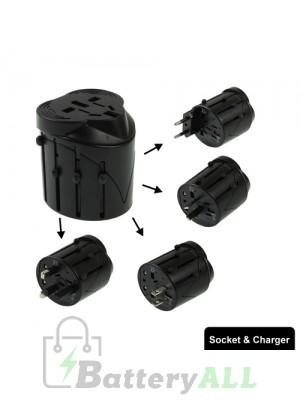 All in 1 EU + AU + UK + US Plug Travel Universal Adaptor 60 x 58 x 56mm S-TC-1131