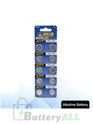 10 PCS AG13 / 357A 1.55V Alkaline Button Battery S-LIB-0305