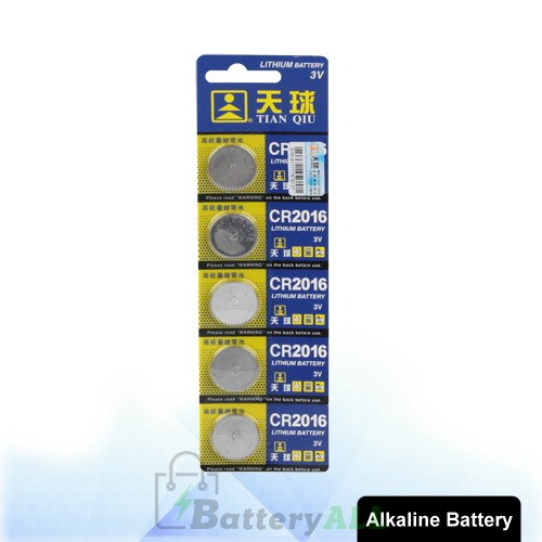 5 PCS CR2016 3V Lithium Button Battery S-LIB-0307