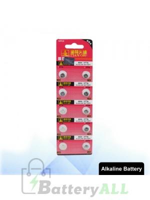 10 PCS AG4 / 377A 1.55V Alkaline Button Battery S-LIB-0310
