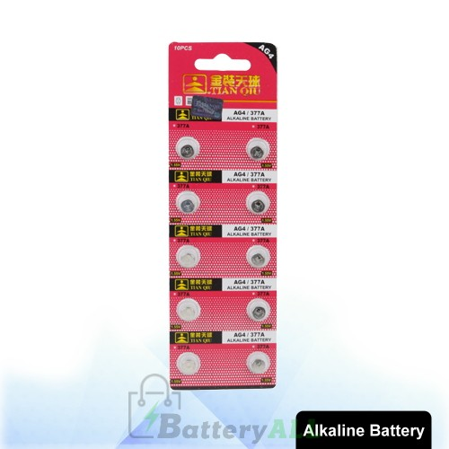 10 PCS AG4 / 377A 1.55V Alkaline Button Battery S-LIB-0310
