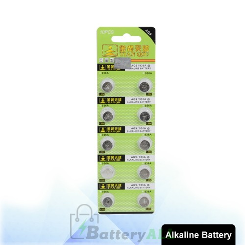 10 PCS AG9 / 936A 1.55V Alkaline Button Battery S-LIB-0315