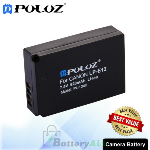 PULUZ LP-E12 7.4V 920mAh Camera Battery for Canon EOS M / EOS M2 / EOS 100D PU1040