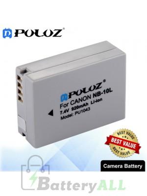PULUZ NB-10L 7.4V 920mAh Camera Battery for Canon PowerShot G1X PowerShot G15 PowerShot SX50 HS PowerShot SX40 HS PU1043
