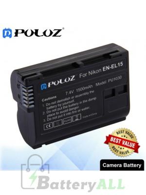 PULUZ EN-EL15 7.4V 1500mAh Camera Battery for Nikon D7500 / D7000 / D800 / D800E / V1 / MB-D11 / MB-D12 PU1030
