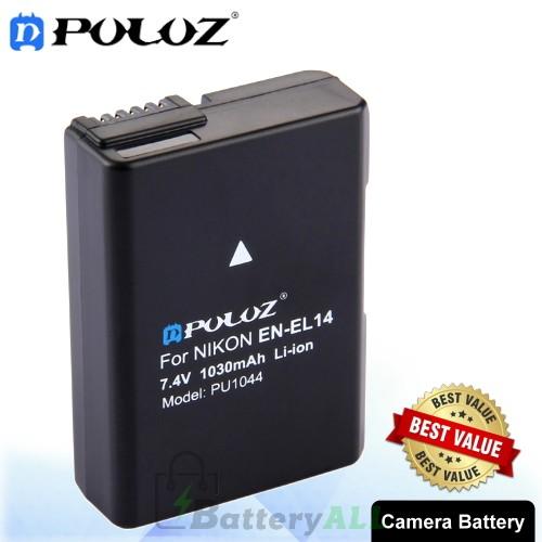 PULUZ EN-EL14 7.4V 1030mAh Decode Camera Battery for Nikon D3100 / D5100 / P7000 / P7100 PU1044