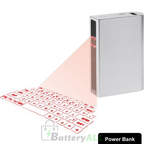 Virtual Laser Projection Bluetooth Keyboard with 5200mAh Power Bank S-KB-0020
