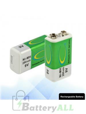 9V 280mAh Rechargeable Ni-MH Battery S-LIB-0114