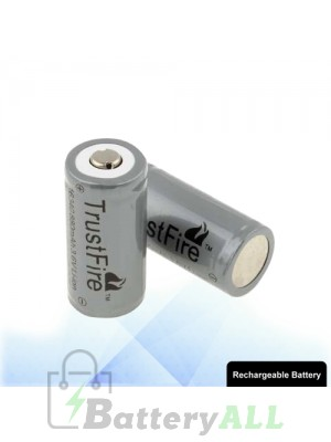 TrustFire 16340 880mAh Long Lasting Rechargeable Lithium ion Battery with Circuit Protection S-LIB-0225