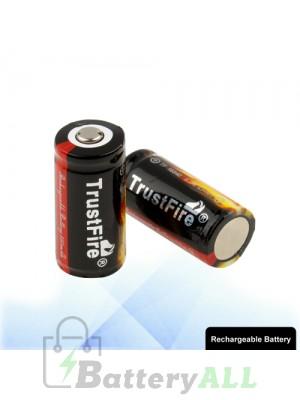 2 PCS TrustFire TF 16340 880mAh Long Lasting Rechargeable Lithium ion Battery S-LIB-0230