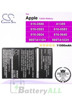 CS-IPD300SL For Apple iPad Tablet Battery Model 616-0586 / 616-0593 / 616-0604 / 969TA103H / 969TA110H / A1389