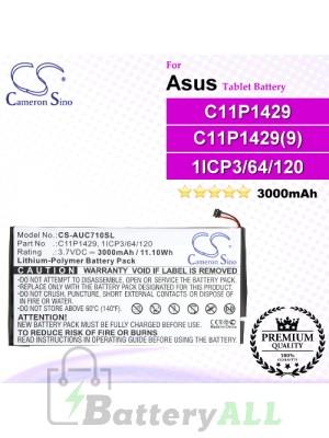 CS-AUC710SL For Asus Tablet Battery Model 0B200-01490000 / 1ICP3/64/120 / C11P1429 / C11P1429(9) / C11P191
