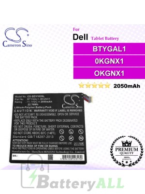 CS-DEV103SL For Dell Tablet Battery Model 0KGNX1 / BTYGAL1 / OKGNX1