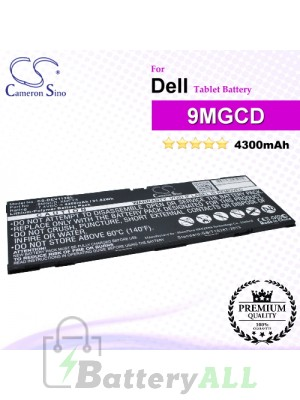 CS-DEV113SL For Dell Tablet Battery Model 9MGCD / XMFY3