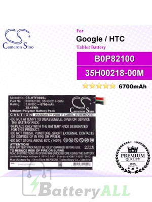 CS-HTF900SL For Google Tablet Battery Model B0P82100 / 35H00218-00M