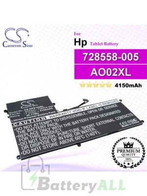 CS-HPE100SL For HP Tablet Battery Model 72558-005 / 728250-421 / 728558-005 / AO02030XL / AO02XL / HSTNN-LB50