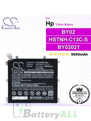 CS-HPE810SL For HP Tablet Battery Model BY02 / HSTNH-C13C-S
