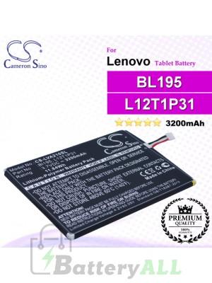 CS-LVA210SL For Lenovo Tablet Battery Model BL195 / L12T1P31
