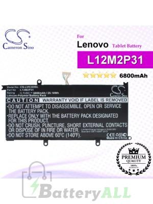 CS-LVK300SL For Lenovo Tablet Battery Model L12M2P31