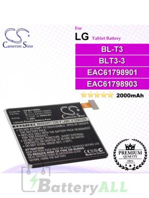 CS-BLT300SL For LG Tablet Battery Model BL-T3 / BLT3-3 / EAC61798901 / EAC61798903