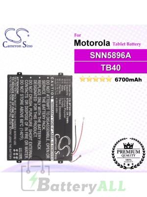 CS-MTX615SL For Motorola Tablet Battery Model L-L-L DC110510 / SNN5896A / TB40