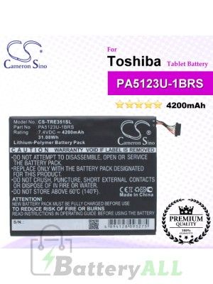 CS-TRE351SL For Toshiba Tablet Battery Model PA5123U-1BRS